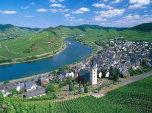 City of Bremm and Moselle River, Germany